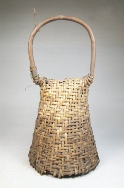 Basket Rattle with Hoop Handle-Dance Rattle, late 19th or early 20th century. Rattan, calabash, 11 1/2 x 5 3/4 in. (31.8 x 14.6 cm). Brooklyn Museum, Museum Expedition 1922, Robert B. Woodward Memorial Fund, 22.844. Creative Commons-BY