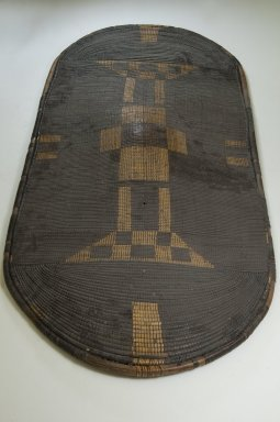 Zande. Shield, late 19th century. Fiber, wood, 46 7/8 x 22 1/16 in. (119.1 x 56 cm). Brooklyn Museum, Museum Expedition 1922, Robert B. Woodward Memorial Fund, 22.856. Creative Commons-BY
