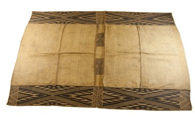 Mbuun. Raffia Cloth, 19th century. Raffia, 43 x 29 3/4 in. (110.0 x 75.5 cm). Brooklyn Museum, Museum Expedition 1922, Robert B. Woodward Memorial Fund, 22.994. Creative Commons-BY