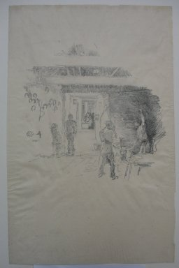 James Abbott McNeill Whistler (American, 1834-1903). The Tyresmith, 1890. Lithograph, 12 7/16 x 8 in. (31.6 x 20.3 cm). Brooklyn Museum, Purchased with funds given by Edward C. Blum, 23.232
