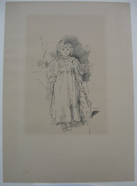 James Abbott McNeill Whistler (American, 1834-1903). Little Evelyn, 1896. Lithograph, 12 5/8 x 8 15/16 in. (32.1 x 22.7 cm). Brooklyn Museum, Purchased with funds given by Edward C. Blum, 23.239