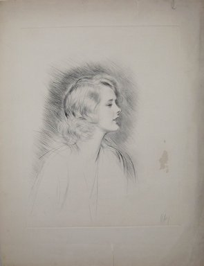 Paul-César Helleu (French, 1859-1927). Marilyn Miller. Drypoint on wove paper, 19 7/8 x 15 3/4 in. (50.5 x 40 cm). Brooklyn Museum, Gift of Edward C. Blum, 23.283.1
