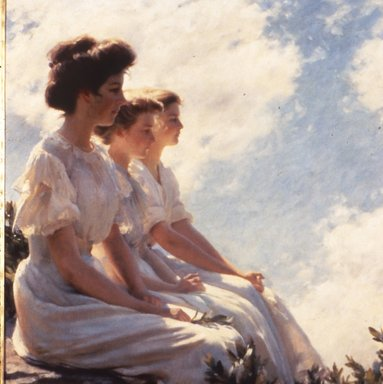 Charles Courtney Curran (American, 1861-1942). On the Heights, 1909. Oil on canvas, 30 1/16 x 30 1/16 in. (76.4 x 76.4 cm). Brooklyn Museum, Gift of George D. Pratt, 24.110