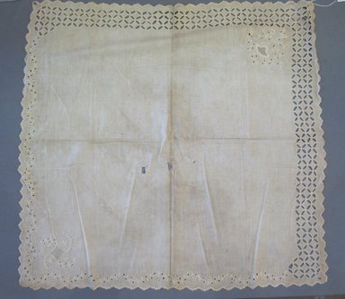 Christening Cloth, 19th century. Linen, 28 3/4 x 28 in. (73 x 71.1 cm). Brooklyn Museum, 25.893.3