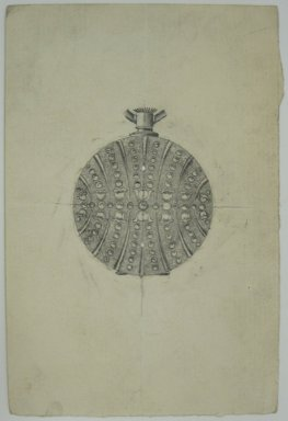 Frederick John Beck (1864-1917). Watch-case Design. Graphite on paper, 4 7/16 x 3 in. (11.3 x 7.6 cm). Brooklyn Museum, Gift of Herbert F. Beck and Frederick Lorenze Beck, 26.515.101. Creative Commons-BY