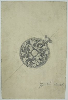 Frederick John Beck (1864-1917). Watch-case Design. Graphite on paper, 4 7/16 x 2 15/16 in. (11.3 x 7.5 cm). Brooklyn Museum, Gift of Herbert F. Beck and Frederick Lorenze Beck, 26.515.71. Creative Commons-BY