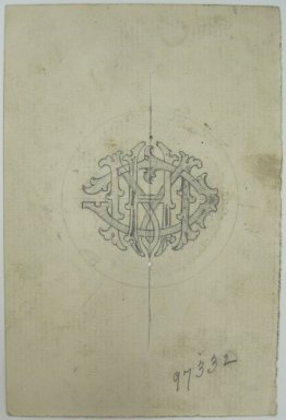 Frederick John Beck (1864-1917). Watch-case Design. Graphite on paper, 4 3/8 x 2 15/16 in. (11.1 x 7.5 cm). Brooklyn Museum, Gift of Herbert F. Beck and Frederick Lorenze Beck, 26.515.76. Creative Commons-BY