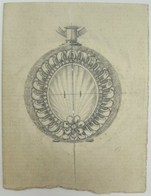 Frederick John Beck (1864-1917). Watch-case Design. Graphite on paper, 2 15/16 x 2 1/4 in. (7.5 x 5.7 cm). Brooklyn Museum, Gift of Herbert F. Beck and Frederick Lorenze Beck, 26.515.77. Creative Commons-BY