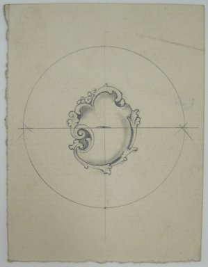 Frederick John Beck (1864-1917). Watch-case Design. Graphite on paper, 2 15/16 x 2 1/4 in. (7.5 x 5.7 cm). Brooklyn Museum, Gift of Herbert F. Beck and Frederick Lorenze Beck, 26.515.81. Creative Commons-BY
