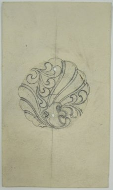 Frederick John Beck (1864-1917). Watch-case Design. Graphite on paper, 3 11/16 x 2 1/8 in. (9.4 x 5.4 cm). Brooklyn Museum, Gift of Herbert F. Beck and Frederick Lorenze Beck, 26.515.83. Creative Commons-BY