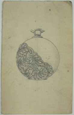 Frederick John Beck (1864-1917). Watch-case Design. Graphite on paper, 3 15/16 x 2 7/16 in. (10 x 6.2 cm). Brooklyn Museum, Gift of Herbert F. Beck and Frederick Lorenze Beck, 26.515.84. Creative Commons-BY