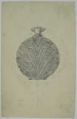 Frederick John Beck (1864-1917). Watch-case Design. Graphite on paper, 3 7/8 x 2 1/2 in. (9.8 x 6.4 cm). Brooklyn Museum, Gift of Herbert F. Beck and Frederick Lorenze Beck, 26.515.87. Creative Commons-BY