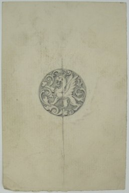 Frederick John Beck (1864-1917). Watch-case Design. Graphite on paper, 4 7/16 x 2 15/16 in. (11.3 x 7.5 cm). Brooklyn Museum, Gift of Herbert F. Beck and Frederick Lorenze Beck, 26.515.96. Creative Commons-BY