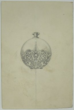 Frederick John Beck (1864-1917). Watch-case Design. Graphite on paper, 4 7/16 x 2 15/16 in. (11.3 x 7.5 cm). Brooklyn Museum, Gift of Herbert F. Beck and Frederick Lorenze Beck, 26.515.97. Creative Commons-BY