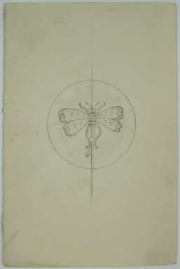 Frederick John Beck (1864-1917). Watch-case Design. Graphite on paper, 4 7/16 x 3 in. (11.3 x 7.6 cm). Brooklyn Museum, Gift of Herbert F. Beck and Frederick Lorenze Beck, 26.515.98. Creative Commons-BY