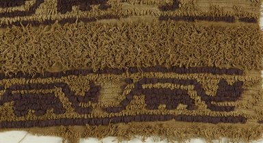 Coptic. Textile, 4th century C.E. Flax, wool, 13 x 22 in. (33 x 55.9 cm). Brooklyn Museum, Gift of the Long Island Historical Society, 26.738. Creative Commons-BY