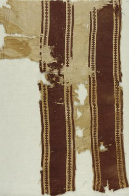 Coptic. Textile, 5th-6th century C.E. Flax, wool, 21 x 13 3/4 in. (53.3 x 34.9 cm). Brooklyn Museum, Gift of the Long Island Historical Society, 26.739. Creative Commons-BY