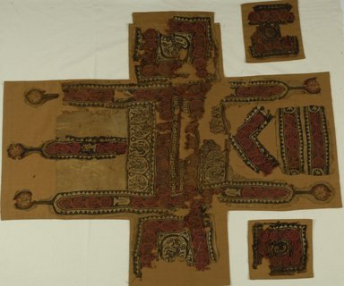 Coptic. Textile, 6th century C.E. Flax, wool, 37 x 31 1/2 in. (94 x 80 cm). Brooklyn Museum, Gift of the Long Island Historical Society, 26.745. Creative Commons-BY