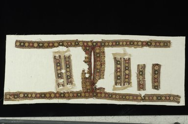 Coptic. Tunic Fragments, 6th century C.E. Flax, wool, 21 x 47 in. (53.3 x 119.4 cm). Brooklyn Museum, Gift of the Long Island Historical Society, 26.747. Creative Commons-BY