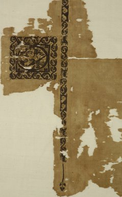 Coptic. Tunic, late 6th century C.E. Flax, wool, 23 x 26 3/4 in. (58.4 x 67.9 cm). Brooklyn Museum, Gift of the Long Island Historical Society, 26.749. Creative Commons-BY