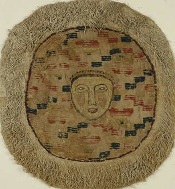 Coptic. Textile, 4th-5th century C.E., and later. Flax, wool, 21 x 19 1/2 in. (53.3 x 49.5 cm). Brooklyn Museum, Gift of the Long Island Historical Society, 26.753. Creative Commons-BY