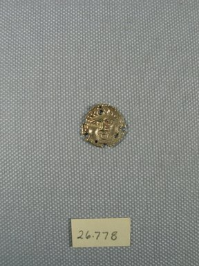 Roman. Small Disk, 1st-2nd century C.E. or later. Gold, Diam. 5/8 in. (1.7 cm). Brooklyn Museum, Gift of George D. Pratt, 26.778. Creative Commons-BY