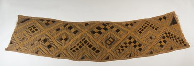 Kuba. Raffia Cloth. Embroidered Raffia cloth, 8 x 33 3/4 in. (20.3 x 85.7 cm). Brooklyn Museum, 26549. Creative Commons-BY