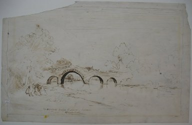 Brooklyn Museum: Old Stone Bridge at Leeds, Catskill
