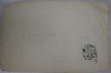 Philip H. Wolfrom (American, 1870-1904). Sleeping Tiger, n.d. Charcoal on paper, Sheet: 12 7/8 x 19 3/4 in. (32.7 x 50.2 cm). Brooklyn Museum, Gift of Anna Wolfrom Dove, 27.811