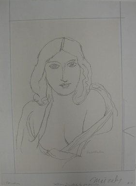 Walt Kuhn (American, 1877-1949). Cornelia, n.d. Lithograph on white wove paper, Sheet: 17 1/16 x 12 5/8 in. (43.3 x 32.1 cm). Brooklyn Museum, Gift of Dr. William H. Fox, 28.34. © Estate of Walt Kuhn