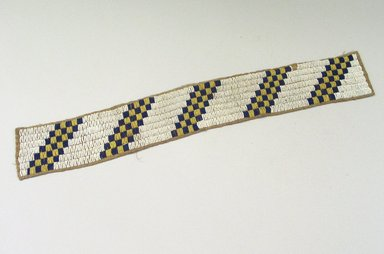 Cheyenne (Native American). Belt. Hide, beads, 20 1/16 x 2 15/16 in.  (51.0 x 7.5 cm). Brooklyn Museum, Bequest of Samuel E. Haslett, 28.750. Creative Commons-BY