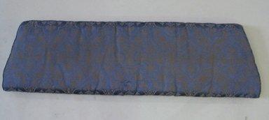 Seat Cushion, early 20th century. Silk, batting, 2 1/4 x 13 1/4 x 46 1/4 in. (5.7 x 33.7 x 117.5 cm). Brooklyn Museum, 29.1535.3. Creative Commons-BY