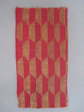 Textile Fragment, 15th century. Silk, 2 1/2 x 5 in. (6.4 x 12.7 cm). Brooklyn Museum, Gift of Jennie Brownscombe, 29.1622