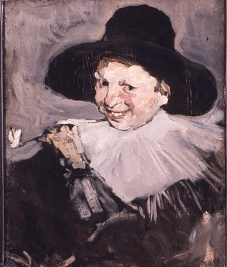 Joseph Frank Currier (American, 1843-1909). Head of a Boy, ca. 1878. Oil on canvas, 23 3/4 x 19 5/8 in. (60.4 x 49.8 cm). Brooklyn Museum, Gift of Mrs. John White Alexander, 30.1083