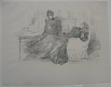 James Abbott McNeill Whistler (American, 1834-1903). The Sisters, 1894. Lithograph, 8 3/16 x 11 1/4 in. (20.8 x 28.6 cm). Brooklyn Museum, Frank Sherman Benson Fund, 30.1115