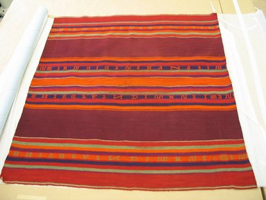 Aymara. Carrying Cloth with Alphabet Design, early 20th century. Camelid fiber, 34 x 36 in. (86.4 x 91.4 cm). Brooklyn Museum, Alfred T. White Fund, 30.1165.18. Creative Commons-BY