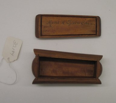 Model Coffin. Wood, 1 9/16 x 4 1/8 x 2 1/8 in.  (4.0 x 10.5 x 5.4 cm). Brooklyn Museum, Estate of Stewart Culin, Museum Purchase, 30.194. Creative Commons-BY