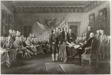 John Francis Eugene Prud'homme (American, 1800-1892). The Declaration of Independence, 19th century. Engraving on steel on wove paper, Plate: 3 1/8 x 5 in. (8 x 12.8 cm). Brooklyn Museum, Gift of Thomas Lamb, 31.2032