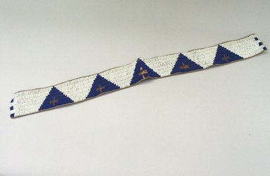 Blackfoot (Native American). Beaded Strip. Beads Brooklyn Museum, Bequest of W.S. Morton Mead, 32.2099.32567. Creative Commons-BY