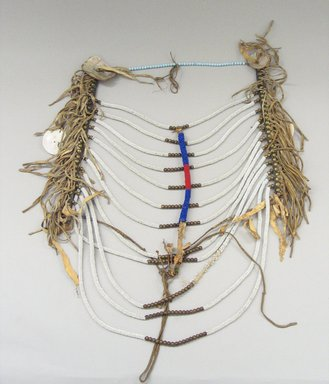 Blackfoot (Native American). Man's Necklace, 20th century. Bead, bone Brooklyn Museum, Bequest of W.S. Morton Mead, 32.2099.32580. Creative Commons-BY