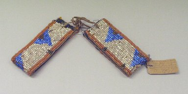 Blackfoot (Native American). Pair of Beaded Arm Bands, 1900-1930. Beads, canvas, cotton Brooklyn Museum, Bequest of W.S. Morton Mead, 32.2099.32582a-b. Creative Commons-BY