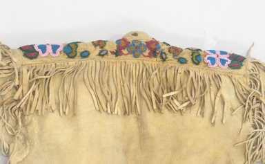 Possibly Blackfoot or (Native American). Shirt, ca. 1900. Buckskin, glass beads, sinew Brooklyn Museum, Bequest of W.S. Morton Mead, 32.2099.32584. Creative Commons-BY