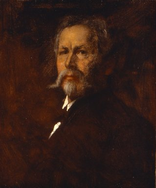Eastman Johnson (American, 1824-1906). Self Portrait, ca. 1890. Oil on canvas, 24 x 19 15/16 in. (60.9 x 50.7 cm). Brooklyn Museum, Carll H. de Silver Fund, 33.137