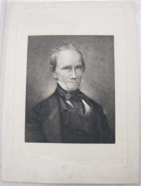 Thomas Johnson (American, born England, 1843-1904). Henry Clay, ca. 1880. Etching and drypoint on laid down China paper, Sheet: 14 13/16 x 10 13/16 in. (37.6 x 27.5 cm). Brooklyn Museum, Gift of Spencer Bickerton, 33.359