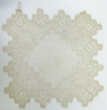 4 Plate Doilies, 18th-19th century. Muslin, lace, 11 x 11 in. (27.9 x 27.9 cm). Brooklyn Museum, Gift of Theodora Wilbour, 33.48.17. Creative Commons-BY