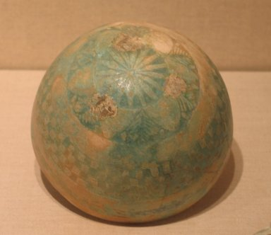 Bowl, 2nd-1st century B.C.E. Faience, glazed, 3 9/16 x Diam. 5 7/8 in. (9 x 15 cm). Brooklyn Museum, Charles Edwin Wilbour Fund, 33.581. Creative Commons-BY