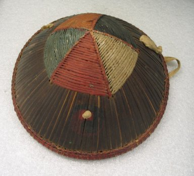 Hat, Late 19th Century. Bamboo, cotton, 8 11/16 x 11 13/16 x 11 1/2 in. (22 x 30 x 29.2 cm). Brooklyn Museum, Brooklyn Museum Collection, 34.1067. Creative Commons-BY