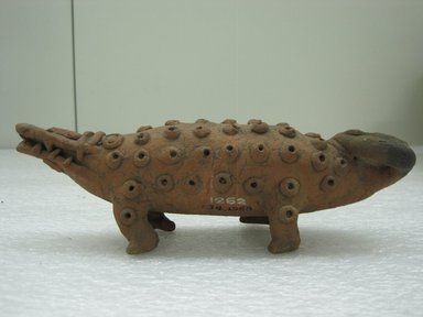 Crocodile Figurine, 500-1350. Ceramic, 2 9/16 x 2 1/4 x 8 in. (6.5 x 5.7 x 20.3 cm). Brooklyn Museum, Alfred W. Jenkins Fund, 34.1968. Creative Commons-BY