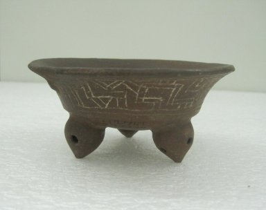 Bowl, 800-1500. Ceramic, 2 3/16 x 4 3/4 x 4 5/8 in. (5.5 x 12 x 11.7 cm). Brooklyn Museum, Alfred W. Jenkins Fund, 34.2340. Creative Commons-BY