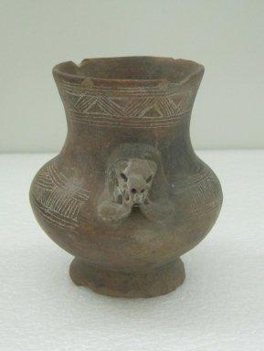 Jar, 800-1500. Ceramic, 5 3/4 x 4 3/8 x 4 in. (14.6 x 11.1 x 10.2 cm). Brooklyn Museum, Alfred W. Jenkins Fund, 34.2379. Creative Commons-BY